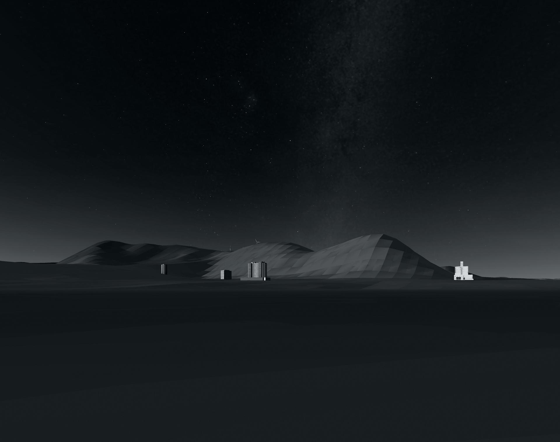 Chenque. Vista desde el Noroeste. 1984. 2020. 40 x 40 cm. Canson Baryta.